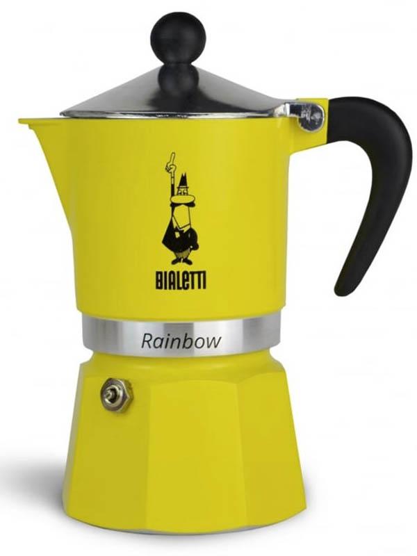 Кофеварка Bialetti Rainbow 3 порции 4982 кофеварка гейзерная bialetti moka induzione 3 порции сталь 4922
