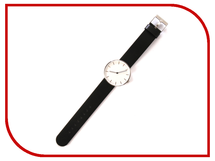 Часы наручные аналоговые Xiaomi Twenty Seventeen Quartz Leather Strap Black 2017 fashion jis high quality blue ray black brown leather band steel shell men male quartz watch wristwatches clock