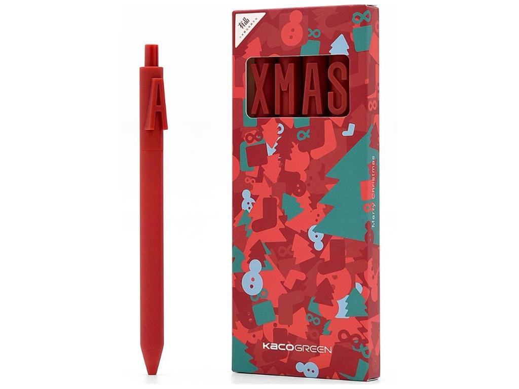 Набор гелевых ручек Xiaomi Alpha Letter Gel Pen 4шт Red