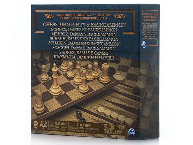 Игра Spin Master 3 в 1 Шашки, шахматы, нарды 6038107 игровые наборы профессия spin master тематическая игра spin master шпионский микрофон