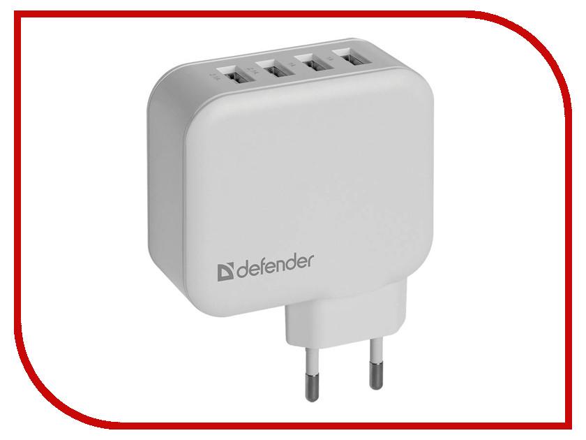 Зарядное устройство Defender UPA-60 4xUSB 2.1/2.1/1/1A 83544
