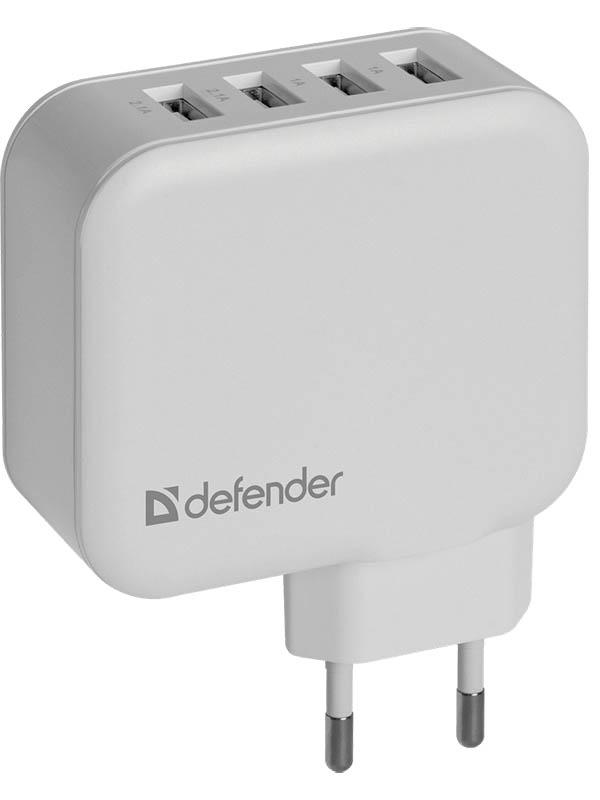 Зарядное устройство Defender UPA-60 4xUSB 2.1/2.1/1/1A 83544 defender upa 04 сетевое зарядное устройство
