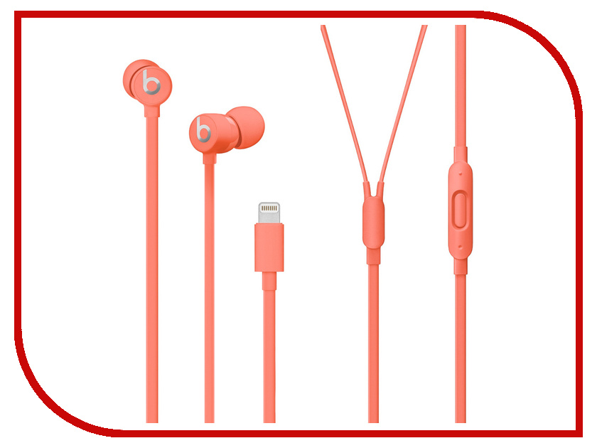 Beats urBeats3 Earphones with Lightning Connector Coral MUHV2EE/A от Beats