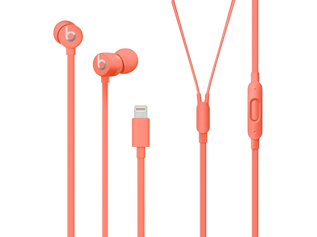 Наушники Beats urBeats3 Earphones with Lightning Connector Coral MUHV2EE/A