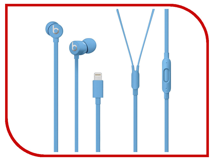 Beats urBeats3 Earphones with Lightning Connector Blue MUHT2EE/A awei es 860hi hifi in ear wired metal earphones with mic red