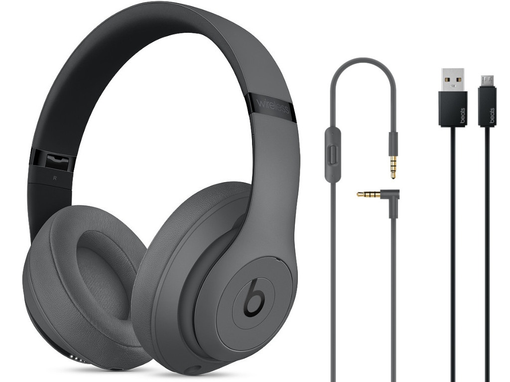 Наушники Beats Studio3 Wireless Over-Ear Headphones Grey MTQY2EE/A