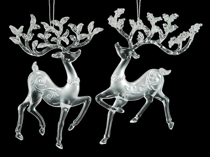 Украшение Crystal Deco Олень Silver 150084