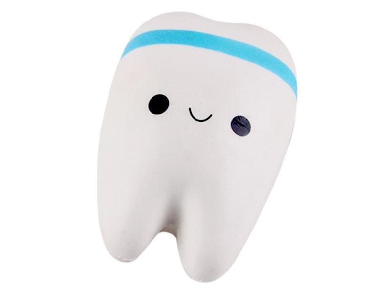 Игрушка антистресс Squishy Зуб с голубым ободком ZSQ-02