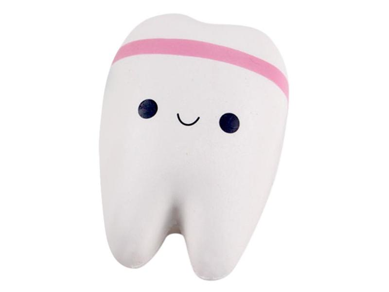Игрушка антистресс Squishy Зуб с розовым ободком ZSQ-03