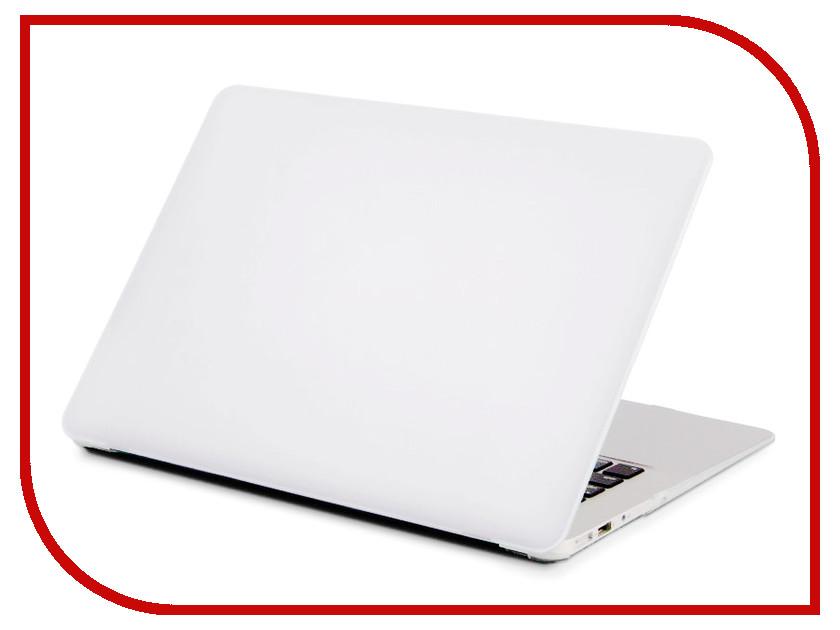 Аксессуар Чехол для APPLE MacBook Air 13 Gurdini Plastic Matt White 907722 аксессуар чехол macbook pro 13 speck seethru pink spk a2729