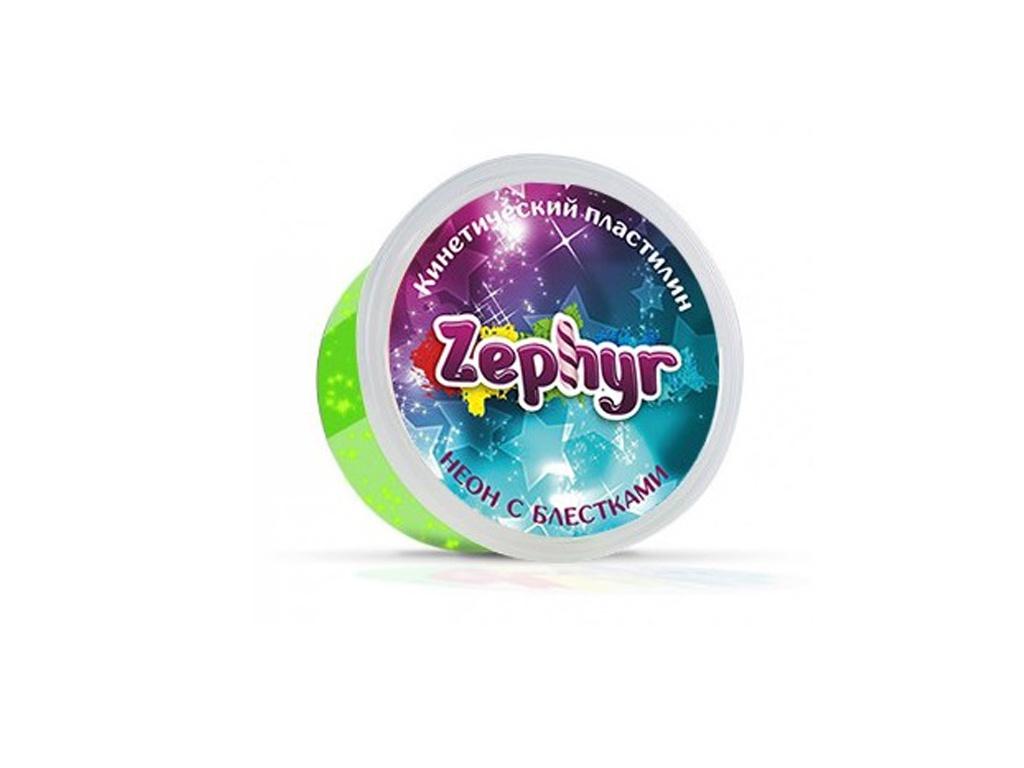 Набор для лепки Zephyr с неоновыми блестками 150гр Green 00-00000865