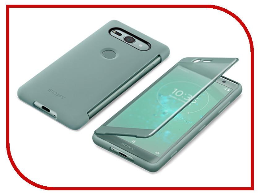 Аксессуар Чехол для Sony Xperia XZ2 Compact с окошком SCTH50 Green 1312-4661 mooncase лич кожи кожа держатель карты бумажник чехол с kickstand чехол для sony xperia z1 compact mini браун