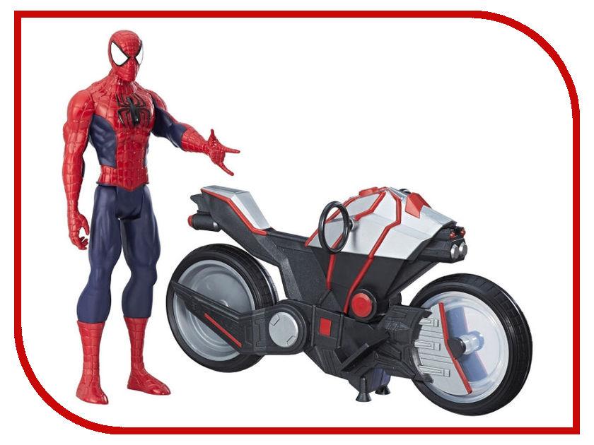 Игрушка Hasbro Spider-ManЧеловек-Паук и мотоцикл B9767EU6 hasbro фигурка с транспортным средством marvel spider man человек паук на мотоцикле