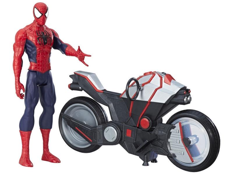 Игрушка Hasbro Spider-ManЧеловек-Паук и мотоцикл B9767EU6 hasbro фигурка marvel spider man человек паук с транспортом