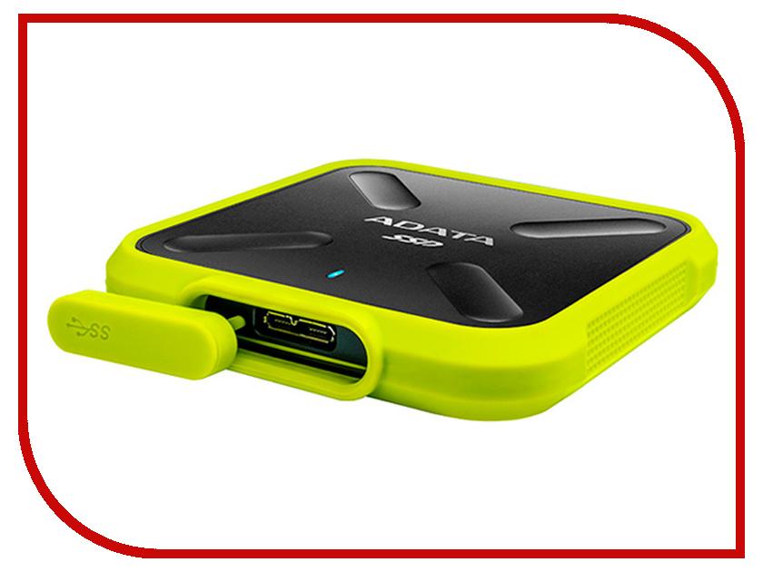 Жесткий диск ADATA SD700 512GB Yellow внешний ssd накопитель 1 8 256gb a data sd700 asd700 256gu3 cyl ssd usb 3 1 type c желтый