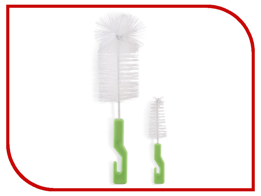 Набор ёршиков Happy Baby Bottle & Nipple Brush 11001 Clean X2 Light Green clean green drinks