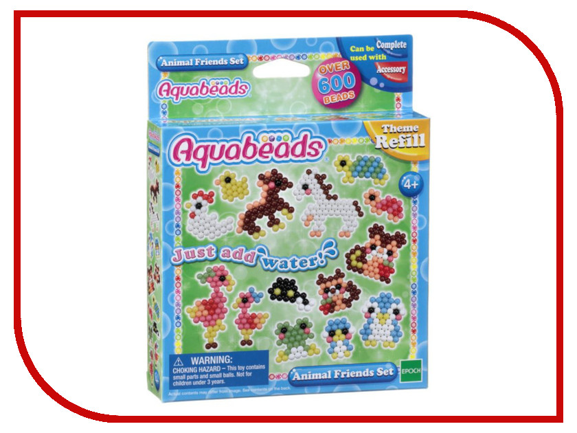 Набор Aquabeads Забавные животные 79298 набор для творчества aquabeads аквамозаика забавные животные
