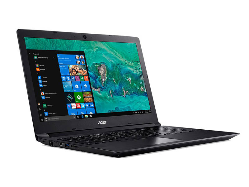 Ноутбук Acer Aspire A315-53-51V7 Black NX.H38ER.004 (Intel Core i5-8250U 1.6 GHz/8192Mb/1000Gb+256Gb SSD/Intel HD Graphics/Wi-Fi/Bluetooth/Cam/15.6/1920x1080/Windows 10 Home 64-bit)