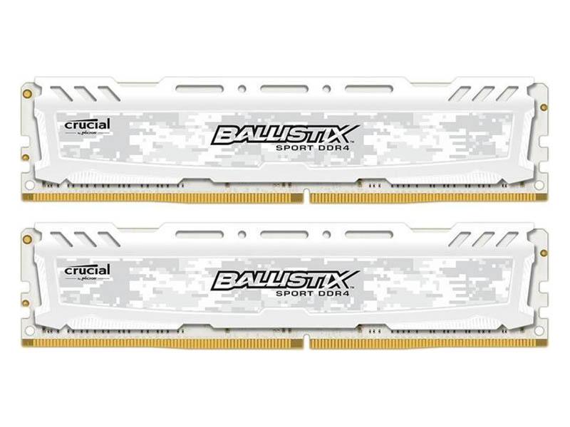 Модуль памяти Crucial Ballistix DDR4 DIMM 2400MHz PC-19200 CL16 - 8Gb KIT (2x4Gb) BLS2K4G4D26BFSC