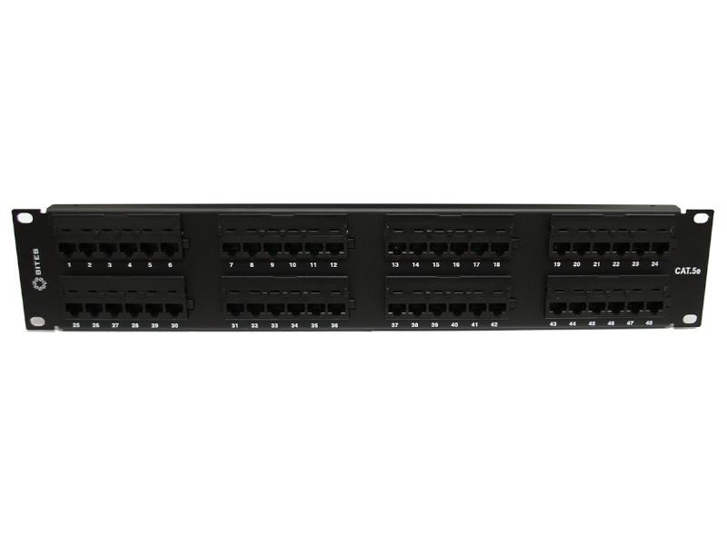 лучшая цена Коммутационная панель Патч-панель 5bites PPU50-02 UTP / 5E / 48P / Krone / 110 / Dual Idc / 2U