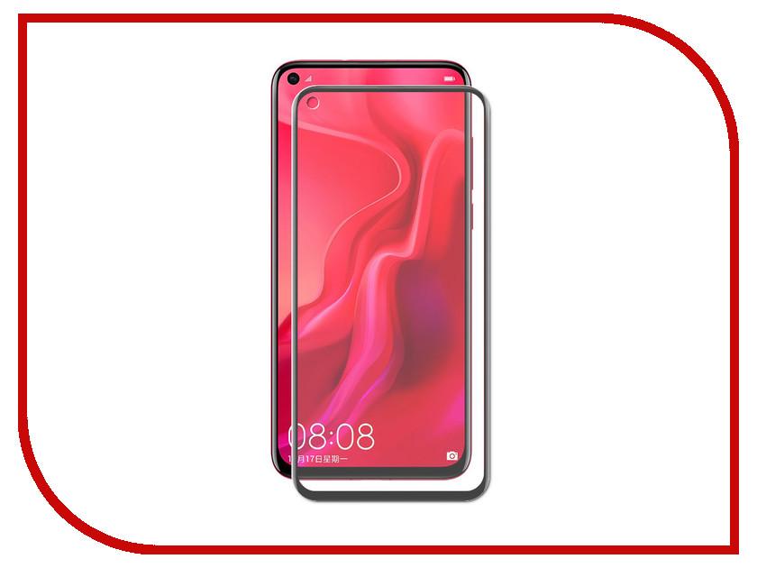 Аксессуар Закаленное стекло для Huawei Nova 4 DF Full Screen Black hwColor-87