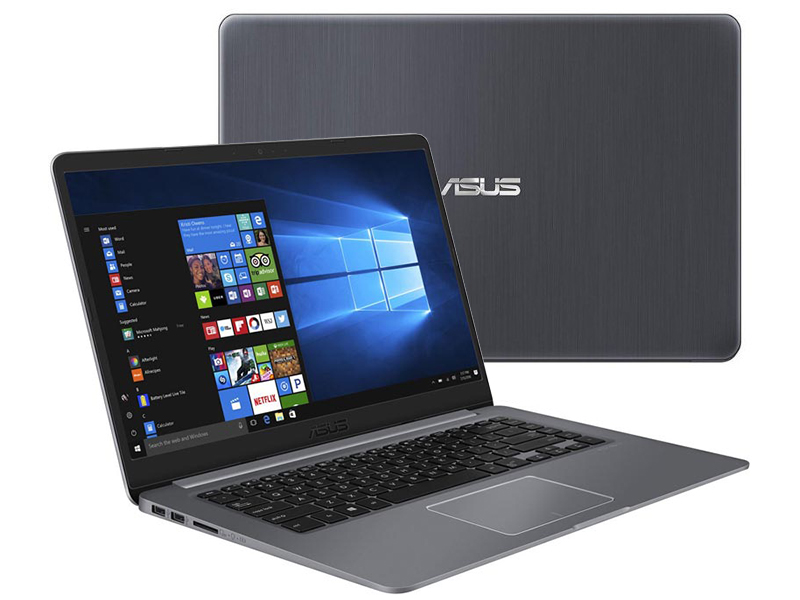 Ноутбук ASUS VivoBook S510UF-BQ674T Grey 90NB0IK5-M10800 (Intel Core i3-8130U 2.2 GHz/8192Mb/1000Gb+16Gb SSD/nVidia GeForce MX130 2048Mb/Wi-Fi/Bluetooth/Cam/15.6/1920x1080/Windows 10 Home 64-bit)