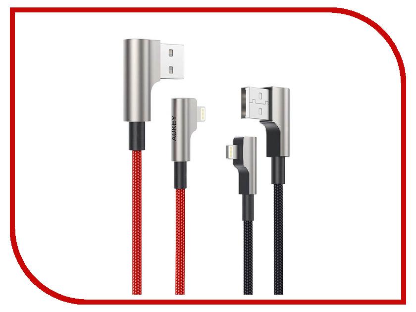 Аксессуар Aukey CB-AL04 USB - Lightning 1m Red-Black держатель aukey hd c13