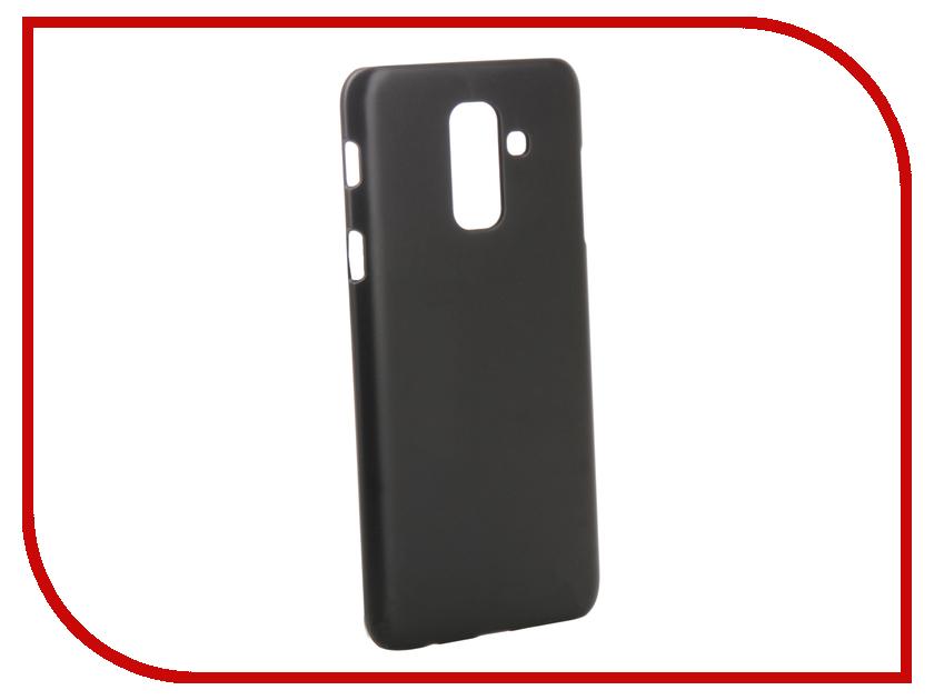 Аксессуар Чехол для Samsung Galaxy A6 Plus 2018 A605G / J8 J810F 2018 Zibelino Hard Plast Black ZHP-SAM-A605G-BLK аксессуар чехол samsung j3 2017 j330f zibelino clear view black zcv sam j330 blk