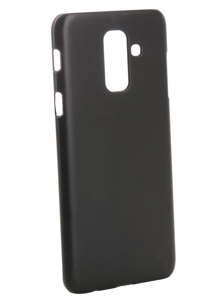 Аксессуар Чехол Zibelino для Samsung Galaxy A6 Plus 2018 A605G / J8 J810F 2018 Hard Plast Black ZHP-SAM-A605G-BLK аксессуар чехол samsung galaxy a5 2017 zibelino classico black zcl sam a5 2017 blk