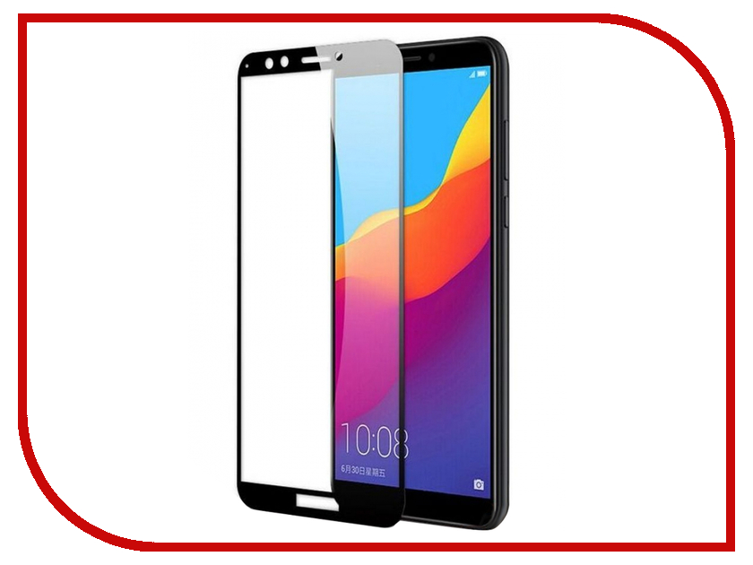 Аксессуар Защитное стекло для Huawei Y6 Prime 2018 / Y6 2018 / Honor 7A Pro / 7C Mobileocean Full Glue Black MO-TGF-HON7C-BLK аксессуар защитное стекло для huawei y6 y6 prime 2018 onext 3d black 41779