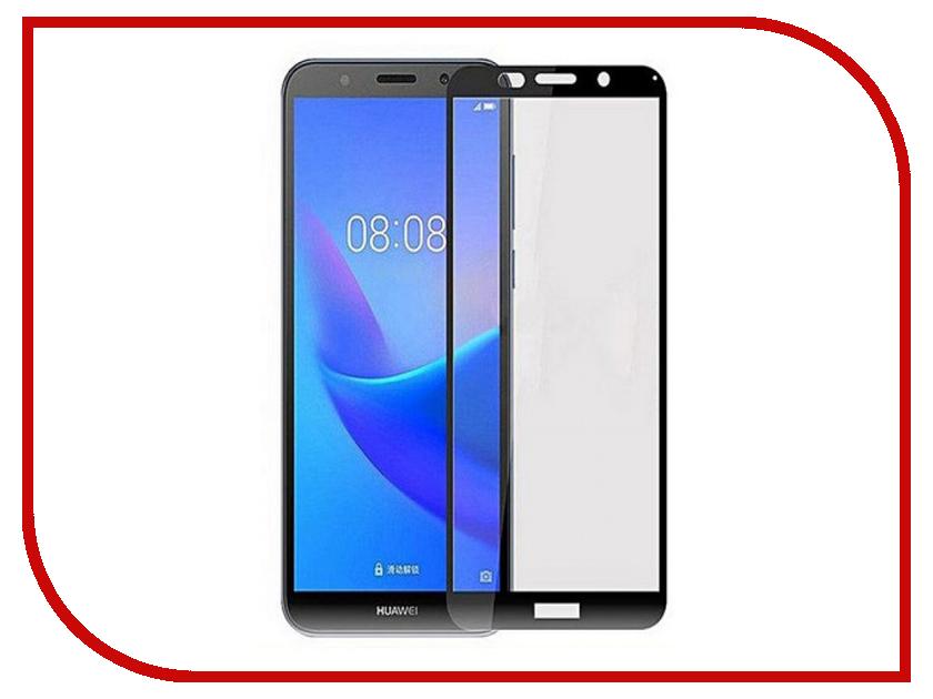 Аксессуар Защитное стекло для Huawei Y5 Prime 2018 / Y5 2018 / Honor 7A Mobileocean Full Glue Black MO-TGF-HON7A-BLK аксессуар чехол samsung j3 2017 j330f zibelino clear view black zcv sam j330 blk
