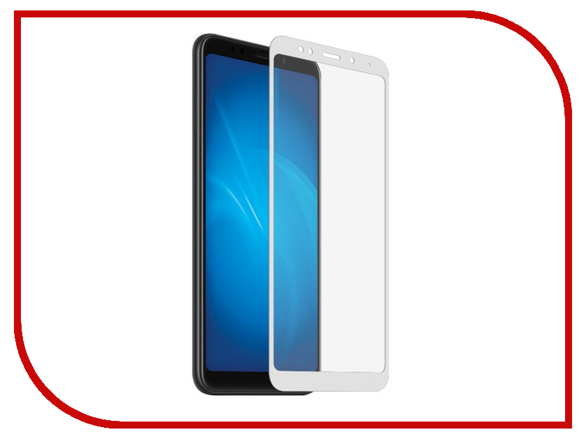 Аксессуар Закаленное стекло для Xiaomi Redmi 6 Pro / Mi A2 Lite DF Full Screen xiColor-38 White for lenovo zuk z2 lcd screen display with touch screen digitizer panel glass assembly black white replacement parts free shipping