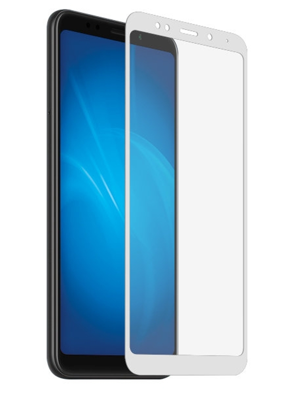 Аксессуар Закаленное стекло DF для Xiaomi Redmi 6 Pro / Mi A2 Lite Full Screen xiColor-38 White for lenovo zuk z2 lcd screen display with touch screen digitizer panel glass assembly black white replacement parts free shipping
