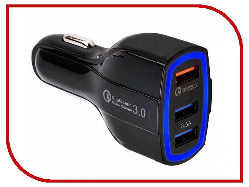 Зарядное устройство Orient CAR QC-12V3W 3xUSB Black 30772 car