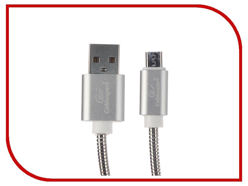 Аксессуар Gembird Cablexpert USB AM/microBM 1m Silver CC-G-mUSB02S-1M аксессуар gembird cablexpert usb 3 0 microbm usb 3 1 type c 1m ccp usb3 mbmcm 1m