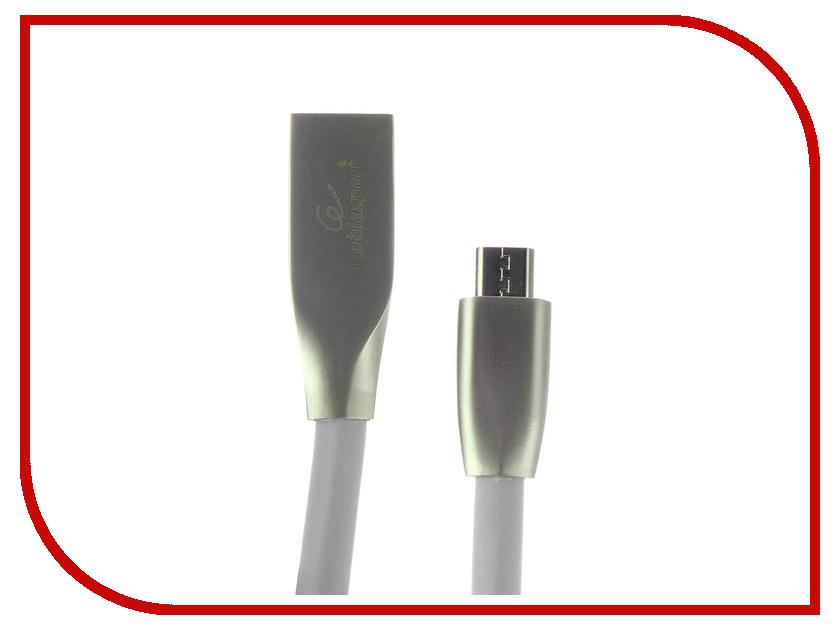 Аксессуар Gembird Cablexpert USB AM/microBM 1.8m Silver CC-G-mUSB02S-1.8M аксессуар gembird cablexpert usb 2 0 otg usbaf microbm 15cm a otg afbm 03