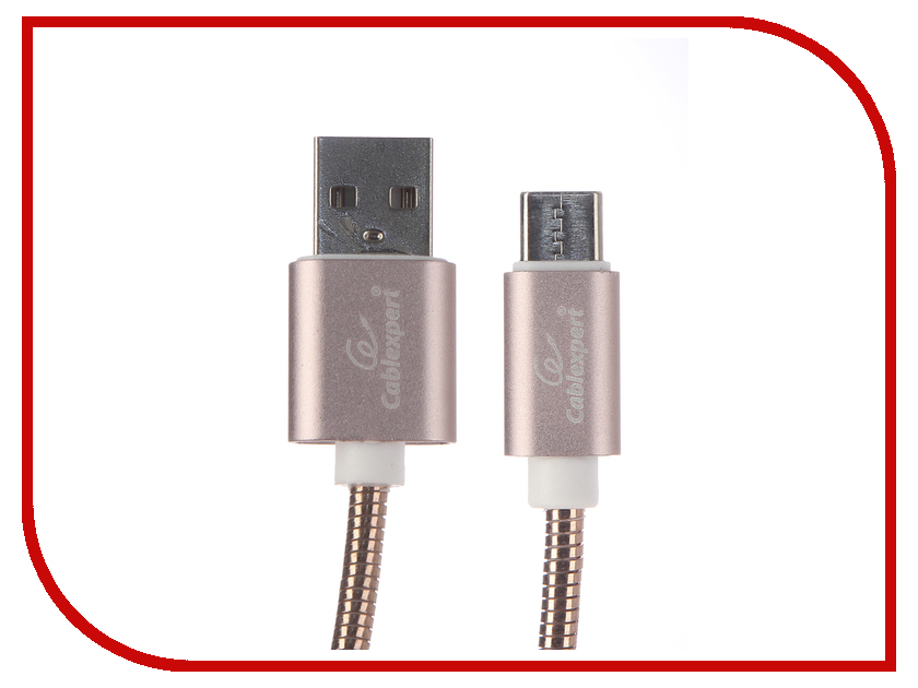 Аксессуар Gembird Cablexpert USB AM/Type-C 1m Gold CC-G-USBC02Cu-1M 2mm 3mm 4mm 5mm khxc 1m insulation heat shrink tubing