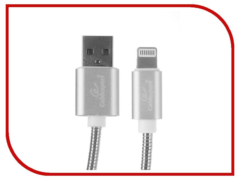 Аксессуар Gembird Cablexpert USB AM/Lightning 1m Silver CC-G-APUSB02S-1M аксессуар gembird cablexpert usb am lightning 8p 1m purple cc apusbp1m