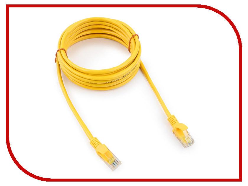 Сетевой кабель Gembird Cablexpert UTP cat.5e 3m Yellow PP10-3M/Y 3m 07099