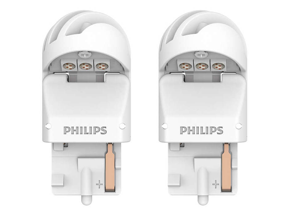 Лампа Philips X-treme Ultinon LED W21W 12V-LED 2.5W W3x16d Red (2 штуки) 11065XURX2