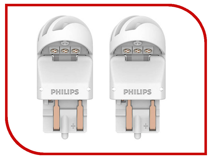 Лампа Philips X-treme Ultinon LED W21/5W 12V-LED W3x16q Red (2 штуки) 11066XURX2 лампа philips x treme ultinon led p21w 12v 21w ba15s red 2 штуки 11498xurx2