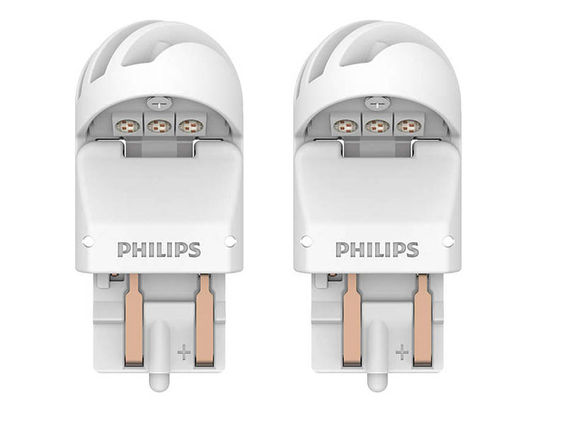 Лампа Philips X-treme Ultinon LED W21/5W 12V-LED W3x16q Red (2 штуки) 11066XURX2