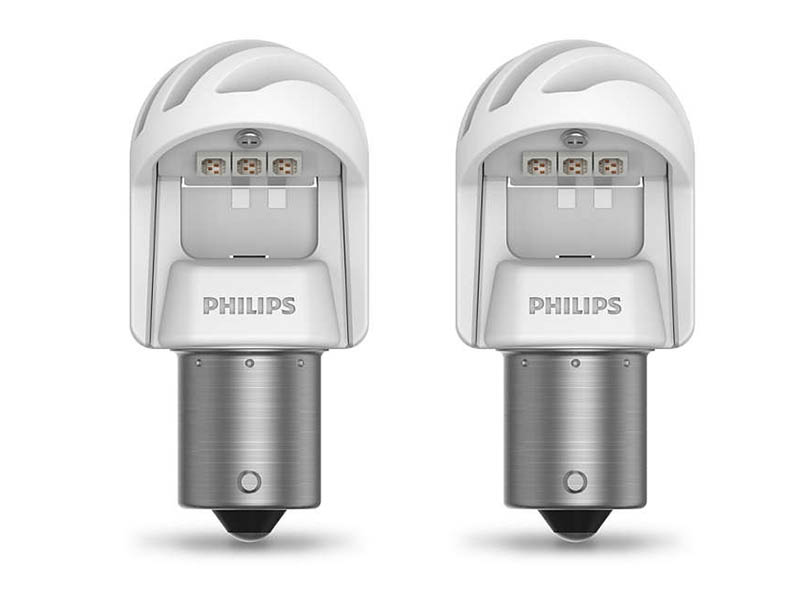 Лампа Philips X-treme Ultinon LED P21W 12V-21W BA15s Red (2 штуки) 11498XURX2