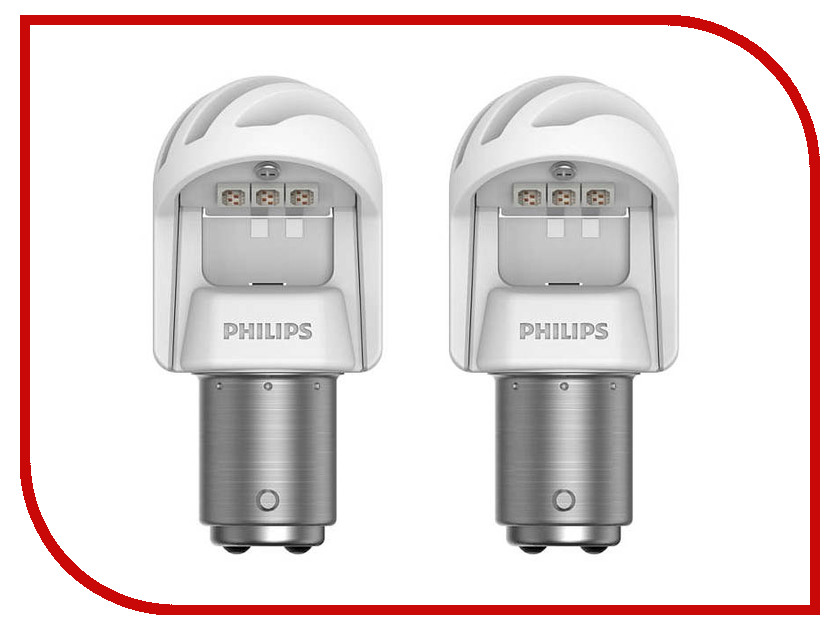 Лампа Philips X-treme Ultinon LED P21/5W 12V-LED 1.9/0.3W BAY15d Red (2 штуки) 11499XURX2 лампа philips x treme ultinon led p21w 12v 21w ba15s red 2 штуки 11498xurx2
