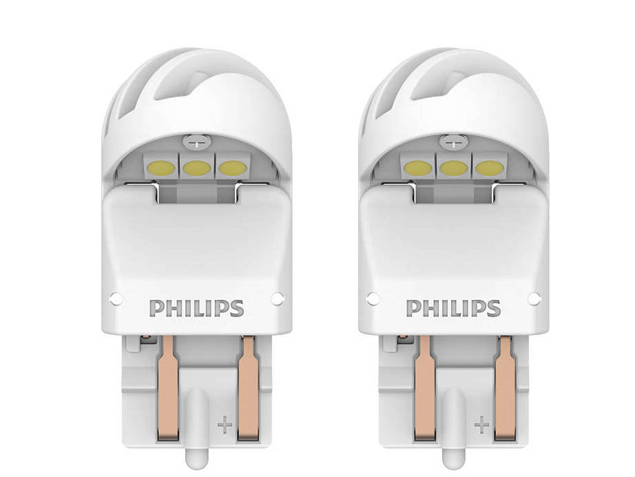 Лампа Philips X-treme Ultinon LED W21/5W 12V-LED W3x16q White (2 штуки) 11066XUWX2