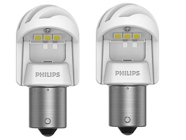 Лампа Philips X-treme Ultinon LED P21W 12V/24V- 2.7W BA15s White (2 штуки) 11498XUWX2