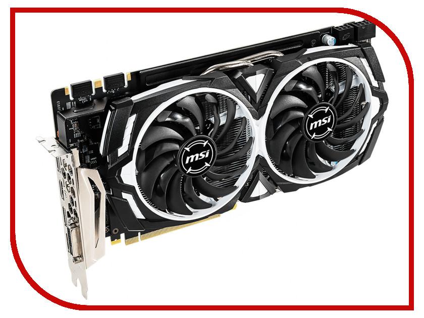 Видеокарта MSI GeForce GTX 1060 1544Mhz PCI-E 3.0 6144Mb 8008Mhz 192 bit DVI 2xHDMI 2xDP HDCP GTX 1060 ARMOR 6GD5X OC