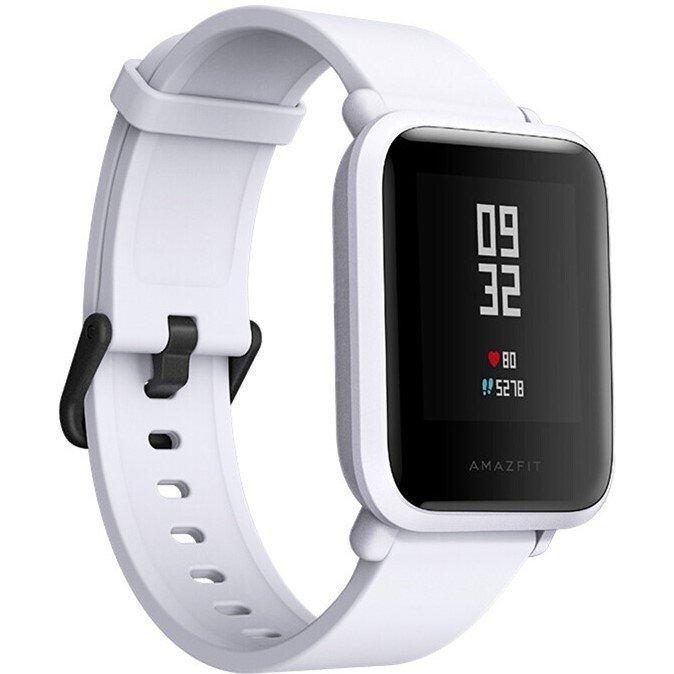 цена Умные часы Xiaomi Huami Amazfit Bip Gray / White Cloud & Strap White Выгодный набор + серт. 200Р!!! онлайн в 2017 году