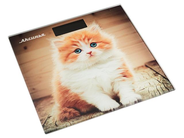 Весы напольные Аксинья КС-6000 Рыжий кот