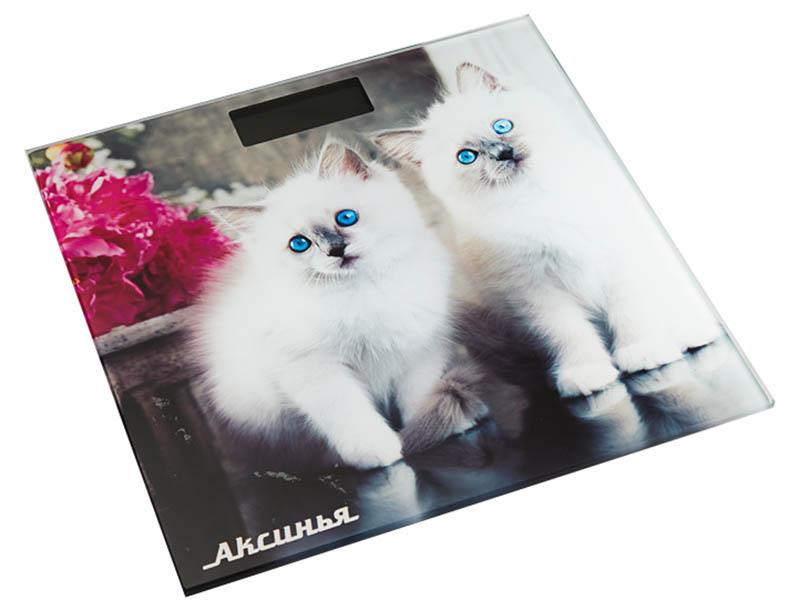 Весы напольные Аксинья КС-6003 Пушистые котята